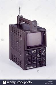 broadcast, television, portable transistor TV set ...