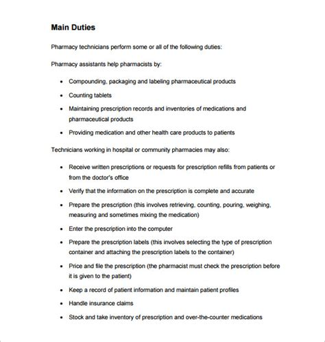 9+ Pharmacy Technician Job Description Templates  Free. Objective On A Resume For Customer Service Template. Funny I Miss You Messages For Wife. Work Id Template. Lessons Learned Template Excel. Real Estate Brochures Templates Free Template. Letter Of Recommendations For Employment Template. Sample Of Marriage License Certificate Template. Restaurant P L Statement Template