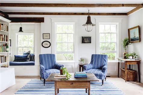 Home Interior Fabrics :  A Coastal Chic Hamptons Home