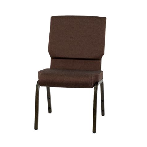 hercules series 18 5 w stacking church chair in brown fabric gold vein frame xu ch 60096 bn gg