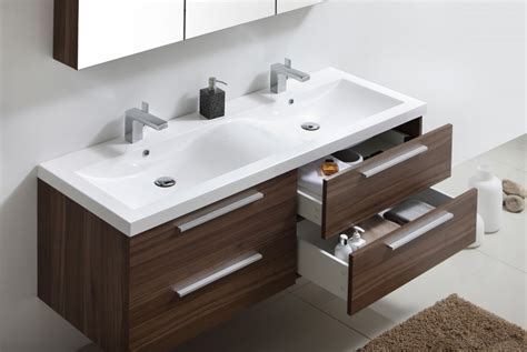 meuble de salle de bain r1442r armoire de toilette meuble mural vasque noyer fonc 233 le