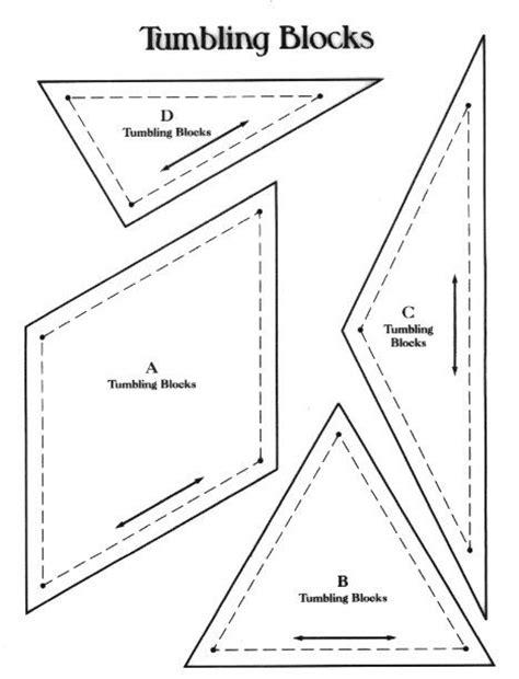 Tumbling Block Quilt Pattern Template tumbling blocks quilts tutorials and patterns pinterest