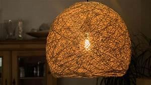 Hängelampe Selber Machen : diy fadenlampe lampenschirm selber machen made by myself dein diy heimwerker blog ~ Markanthonyermac.com Haus und Dekorationen