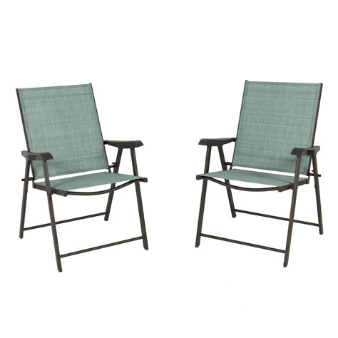set of 2 folding chairs sling bistro set outdoor patio