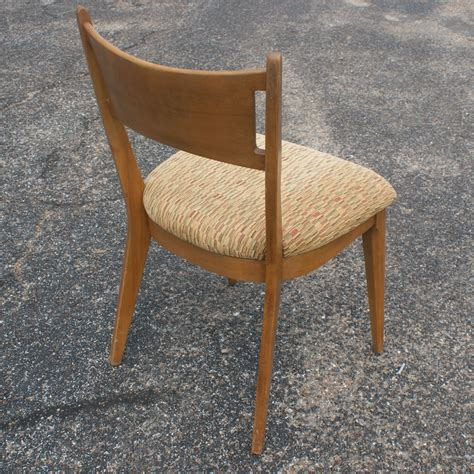 4 vintage heywood wakefield side dining chairs m1981a