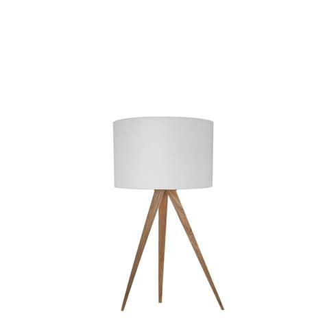 le de table design pied rev 234 tement bois et abat jour textile mini tripod wood
