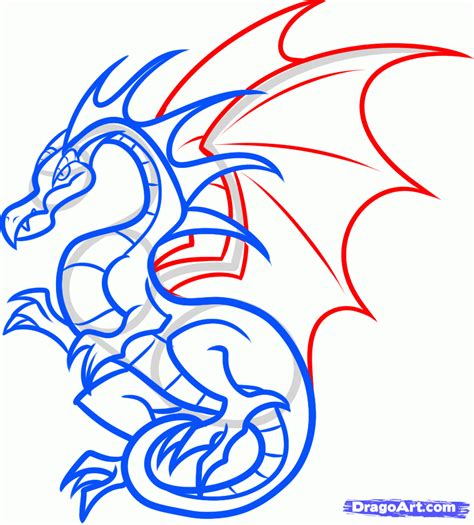 How To Draw A Dragon Boat by How To Draw A Flying Dragon For Kids Step By Step