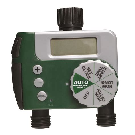orbit digital two automatic outlet hose faucet lawn watering timer 91214