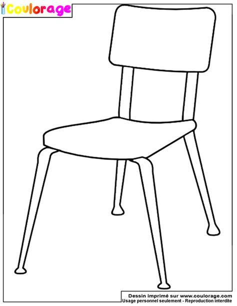 coulorage dessin et coloriage de chaise 224 imprimer