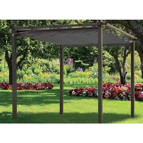 3m x 3m charcoal gazebo metal framed pergola sun canopy garden awning sun shade ebay