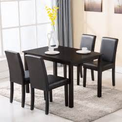 5 Dining Room Set With Bench by 5 Dining Table Set 4 Chairs Wood Kitchen Dinette
