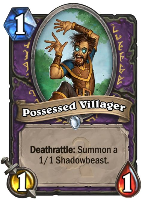 possessed villager hearthstone card