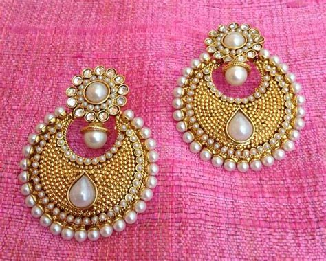 Buy Pearl Polki Flower Ethnic Indian Pakistani Bollywood Jewelry Blue Earring Ab10w Online Jewellery Making Kits Uk Only Jewelry Kit Adults Snap It Tibetan Endless Knot In Branson Mo Copper Videos Fashion Studio Set