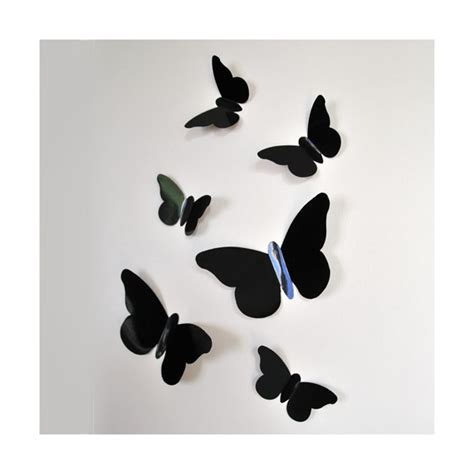 stickers relief papillons noirs decoration stickers muraux mapetitefabrique stickers