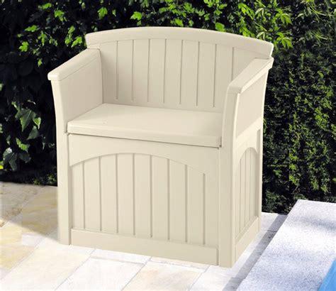 Suncast Patio Storage Seat by Suncast Patio Seat And Garden Storage Gardensite Co Uk