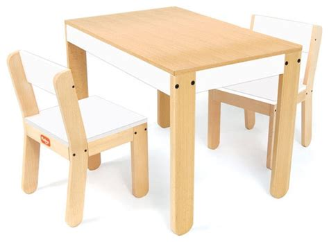 p kolino one s table and chair set in white modern children s tables chairs by