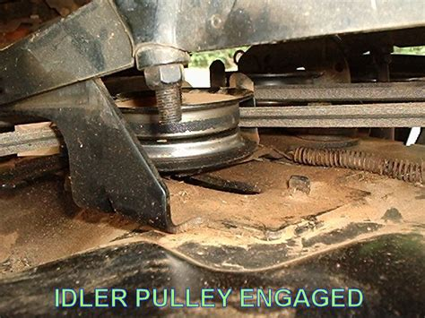 belt pulley problem for craftsman lt1000 lawnsite