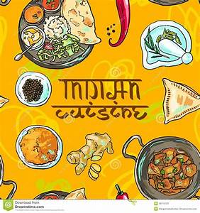 Indian food stock vector. Illustration of plate, pudding ...