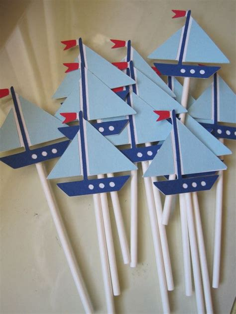 Barbie Sailboat by 12 Sailboat Cupcake Toppers Sailboat Birthday