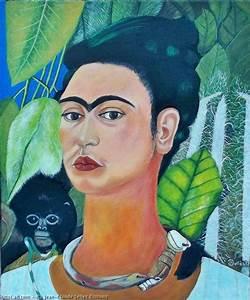 Frida Kahlo Kunstwerk : obra de arte jean claude selles brotons autorretrato con mono frida kahlo 1938 ~ Markanthonyermac.com Haus und Dekorationen