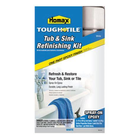shop homax tough as tile tub sink refinishing kit spray