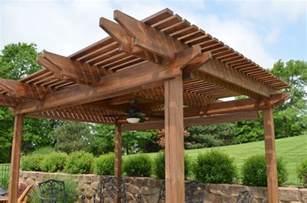 outdoor patio wooden brown pergola design in patio backyard decoration retractable pergola ideas