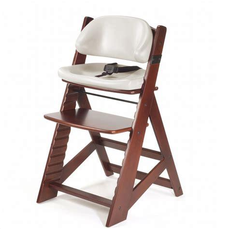 keekaroo height right chair comfort cushion mahogany