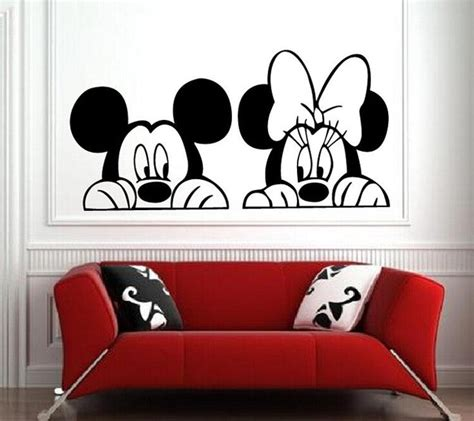 mickey minnie mouse wall stickers baby room decor nursery wall decal home decoration in wall