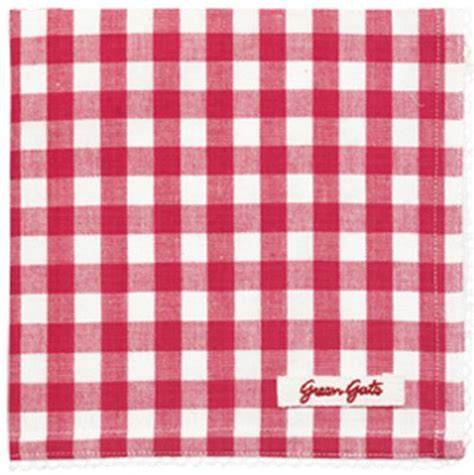vente de serviette de table greengate en coton 224 carreaux oda raspberry