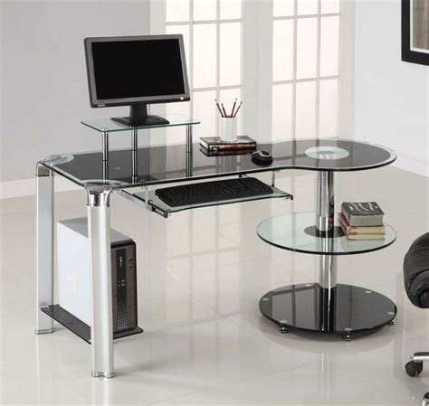 furniture looking home office decoration design with ikea glass desks interior ideas with