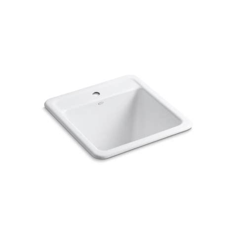 kohler canada k 19022 1 park falls top mount utility sink with single faucet