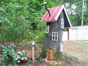Gnome Homes For Gardens gnome house outside garden