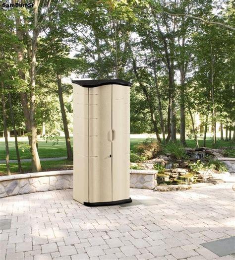 rubbermaid plastic vertical outdoor storage shed organize patio garden tool lawn garden