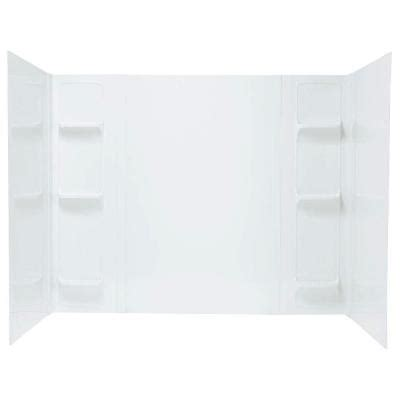 home depot bathtub surround mustee durawall 42 in x 72 in x 58 in 5 easy up
