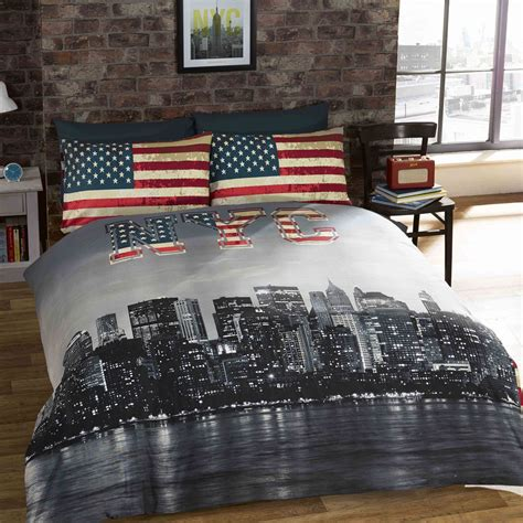 new york city bedding single duvet cover sets usa skyline landmarks bedroom ebay