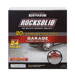 rust oleum grey rocksolid garage floor coating 1 car