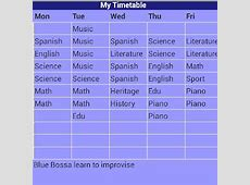 School Timetable Android Apps on Google Play
