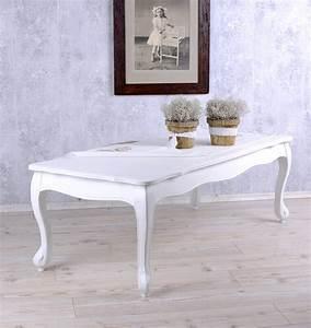 Shabby Chic Couchtisch : table salon blanc table style maison de campagne table basse shabby chic ebay ~ Markanthonyermac.com Haus und Dekorationen