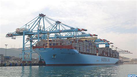 le plus grand porte conteneurs au monde fait escale au port tanger med bouyafar