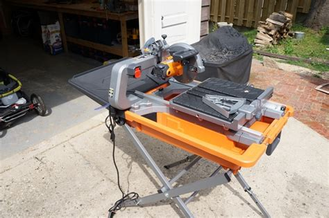 ridgid 8 quot tile saw review model r4040s tools in power tool reviews