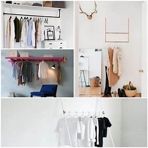 Kleiderstange An Wand : die besten 25 kleiderstange wand ideen auf pinterest kleideraufbewahrung kleiderstange und ~ Markanthonyermac.com Haus und Dekorationen