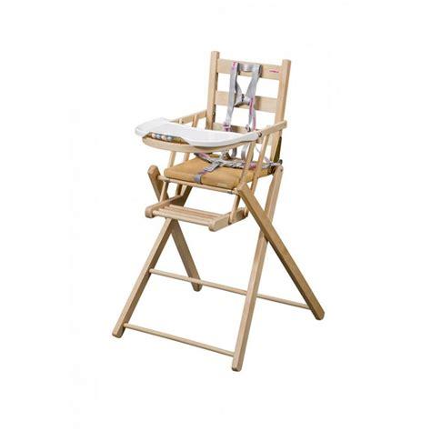 chaise haute bois pliante mzaol