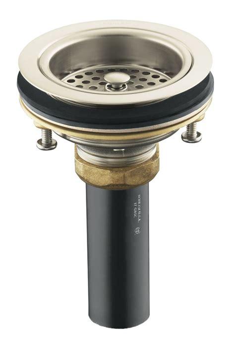 Kohler Sink Strainer Brushed Nickel by Kohler Duostrainer Sink Strainer In Vibrant Brushed Nickel