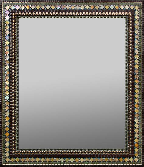 golden chocolate mosaic mirror traditional wall
