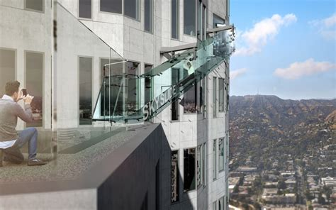 take two 174 a glass slide 1 000 ft in the air coming to downtown la 89 3 kpcc
