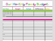 Budget Templates What Mommy Does