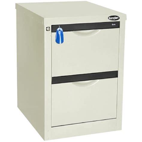 europlan 505w forte filing cabinet 2 drawer white