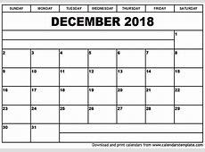 Free Printable 2018 November & December Calendar [PDF