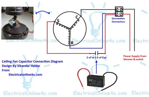 ceiling fan wiring diagram with capacitor ceiling get