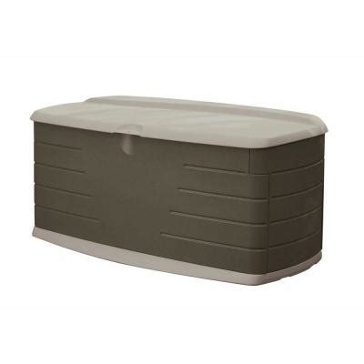 rubbermaid 90 gal large deck box with seat fg5f2200olvss
